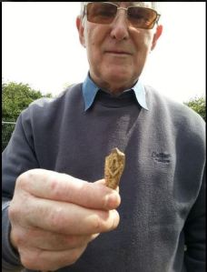 Ken with his masonic pipe fragment